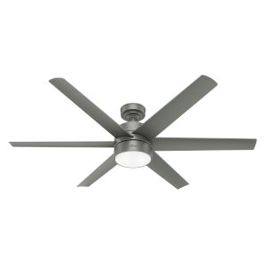 Solaria Matte Silver 60-Inch LED Ceiling Fan