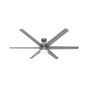 Solaria Matte Silver LED 72-Inch Outdoor Ceiling Fan
