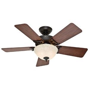 The Kensington New Bronze Two Light 42-Inch Ceiling Fan with Light Kit