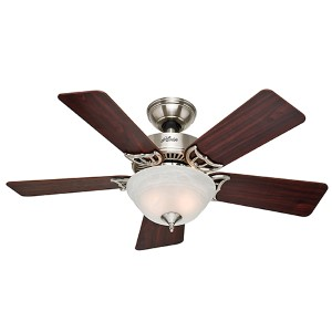 The Kensington Brushed Nickel Two Light 42-Inch Ceiling Fan with Light Kit