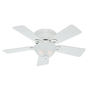 Shop ultra low profile ceiling fan bellacor conroy snow white two light 42 inch low profile ceiling fan aloadofball Image collections