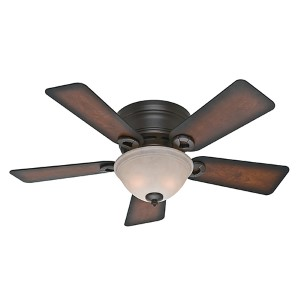 Conroy Onyx Bengal Two Light 42-Inch Low Profile Ceiling Fan