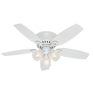 Hatherton Snow White Three Light 46-Inch Hugger Ceiling Fan