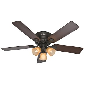 Reinert Premier Bronze Three Light 52-Inch Hugger Ceiling Fan