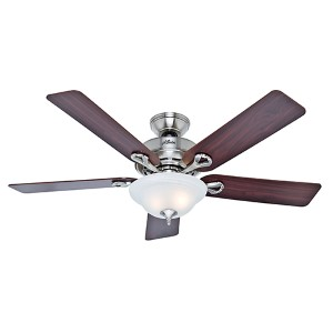 The Kensington Brushed Nickel Two Light 42-Inch Ceiling Fan