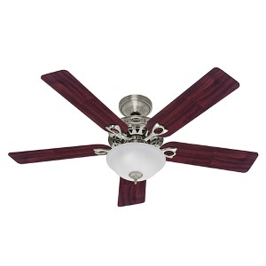 The Astoria Brushed Nickel Two Light 52-Inch Ceiling Fan
