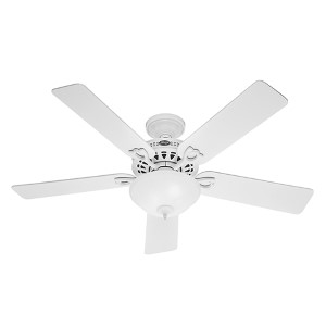 The Astoria White Two Light 52-Inch Ceiling Fan