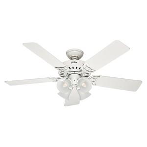 Studio Series White Four Light 52-Inch Ceiling Fan