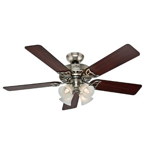 Studio Series Brushed Nickel Four Light 52-Inch Ceiling Fan