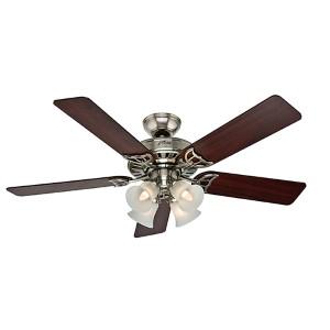 Studio Series Brushed Nickel Four Light 52-Inch Ceiling Fan
