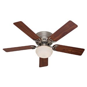 Low Profile III Plus Antique Pewter Fluorescent One Light 52-Inch Hugger Ceiling Fan