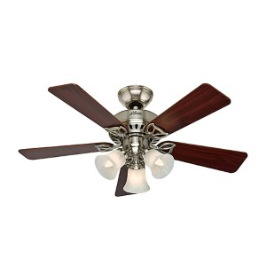 The Beacon Hill Brushed Nickel Three Light 42-Inch Ceiling Fan