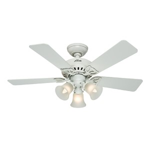 The Beacon Hill White Three Light 42-Inch Ceiling Fan