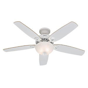 Builder Deluxe White Two Light 52-Inch Ceiling Fan