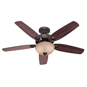 Builder Deluxe New Bronze Two Light 52-Inch Ceiling Fan