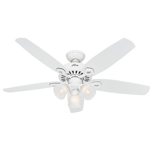 Builder Plus Snow White Three Light 52-Inch Ceiling Fan