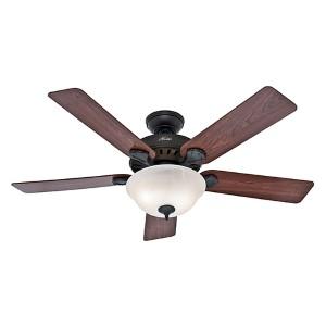 Pros Best Five Minute Fan New Bronze Fluorescent Two Light 52-Inch Ceiling Fan