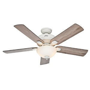 Matheston Cottage White Fluorescent Two Light 54-Inch Ceiling Fan