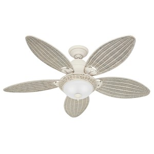 Caribbean Breeze Textured White Two Light 54-Inch Ceiling Fan
