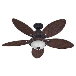 Caribbean Breeze Weathered Bronze Two Light 54 Inch Ceiling Fan