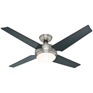 Sonic Brushed Nickel One Light 50-Inch Energy Star Ceiling Fan and Remote