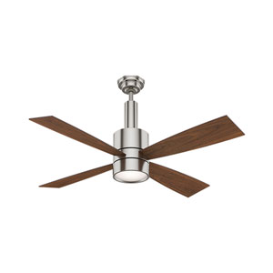Bullet Brushed Nickel 54-Inch LED Ceiling Fan