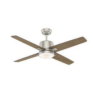 Axial Matte Nickel 52-Inch LED Ceiling Fan