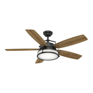 Caneel Bay Aged Steel 56-Inch LED Ceiling Fan
