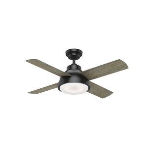 Levitt Matte Black 44-Inch LED Ceiling Fan