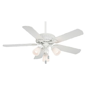 Ainsworth Gallery Cottage White Three-Light 54-Inch Ceiling Fan