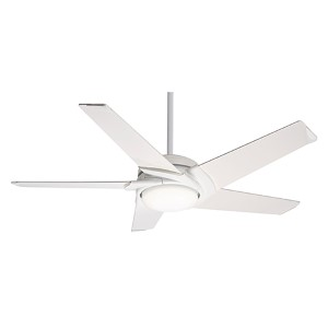 Stealth® Snow White LED 54-Inch Ceiling Fan