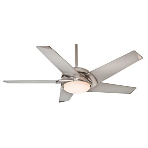 Stealth® Brushed Nickel LED 54-Inch Ceiling Fan with Platinum Blade