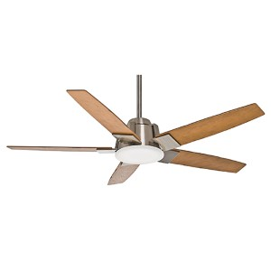 Zudio Brushed Nickel One-Light Energy Star 56-Inch Ceiling Fan