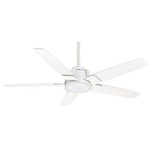 Zudio Snow White One-Light Energy Star 56-Inch Ceiling Fan