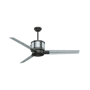 Duluth Galvanized Steel with Aged Steel Accents 60-Inch Ceiling Fan