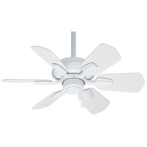 Wailea Snow White 31-Inch Outdoor Ceiling Fan