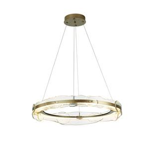 Solstice Soft Gold LED Pendant