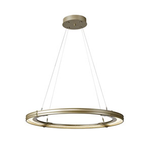 Aria Soft Gold LED Pendant with Soft Gold Accent
