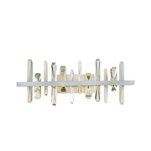 Solitude Soft Gold LED Wall Sconce with Crystal Accent