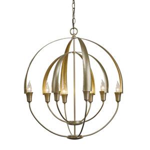 Cirque Soft Gold Eight-Light 25-Inch Pendant