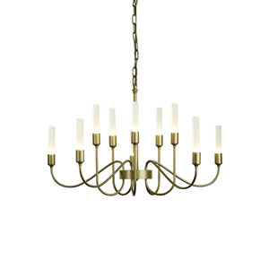 Lisse Soft Gold Ten-Light 28-Inch Chandelier
