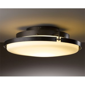 Metra Dark Smoke LED Semi-Flush with Opal Glass