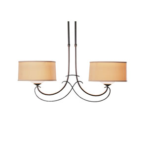 Almost Infinity Mahogany 34-Inch Two-Light Chandelier