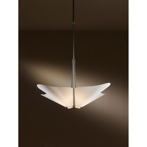 Kirigami Black 23.5-Inch Four-Light Pendant with Spun Frost Shade