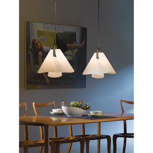 Mobius Dark Smoke 17.5-Inch One-Light Pendant with Spun Frost Shade