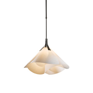 Mobius Dark Smoke 25.5-Inch One-Light Pendant with Spun Frost Shade