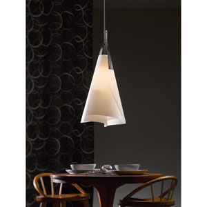 Mobius Dark Smoke 13.5-Inch One-Light Pendant with Spun Frost Shade