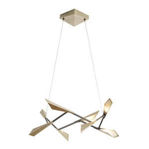 Quill Soft Gold 34-Inch LED Pendant