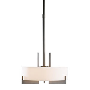 Axis Burnished Steel 19.5-Inch Three-Light Pendant with Opal Glass
