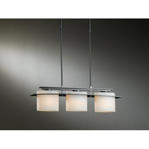 Ellipse Burnished Steel Three-Light Pendant